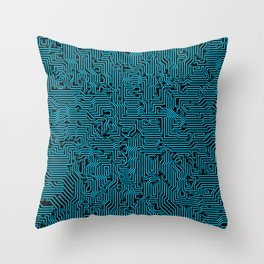 Reboot BLUE Throw Pillow