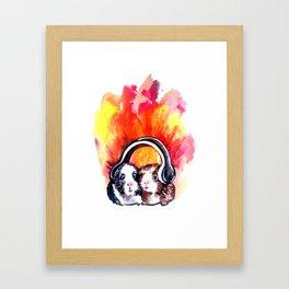 Guinea Pigs Music Framed Art Print