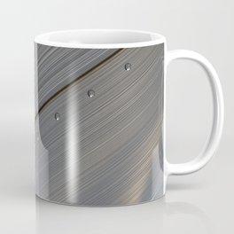 Brushed metal plate with rivets Coffee Mug
