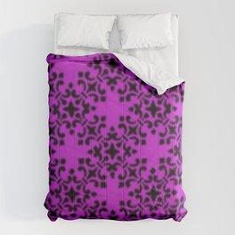 Vintage Brocade Damask Dazzling Violet Comforters