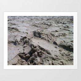 Galveston's Sand Art Print