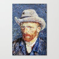 van gogh Canvas Prints featuring Van Gogh  by klausbalzano