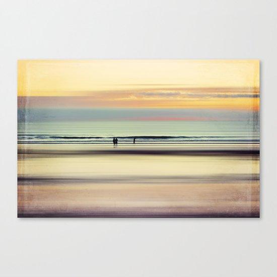 an evening at the beach Canvas Print