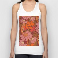 50s Tank Tops featuring Crazy pinks 50s Flower  by Follow The White Rabbit