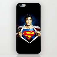 superman iPhone & iPod Skins featuring Superman by DavinciArt
