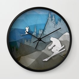 The Skiers Wall Clock