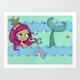 Melody the Mermaid Art Print