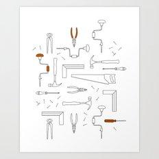 Carpenter Tools Art Print