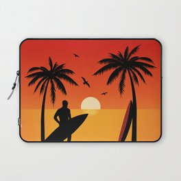 Surfs Up Ride the Waves Laptop Sleeve