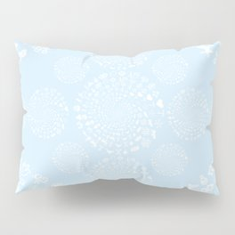 Snow & Ice Love Symbol Mandala Pillow Sham