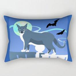 Jack Cat Goes Gothic Rectangular Pillow