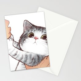 Kiss Cute Cat 3 Stationery Cards