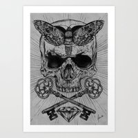 occult Art Prints featuring Occult Desire by Anderson Alves