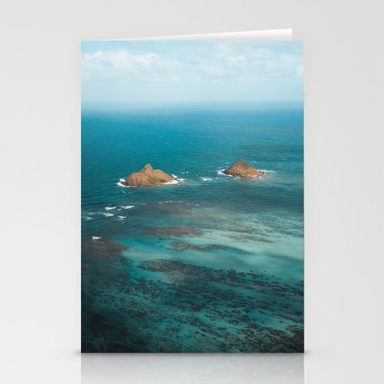 Na Mokulua Islands Off Oahu's Coast Stationery Cards By