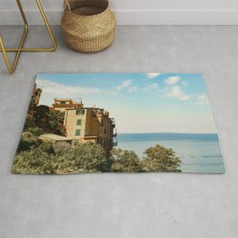 Travel Photography: House on the Coast of Cinque Terre, Italy Rug