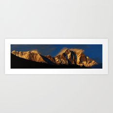 Everest Sunset Art Print