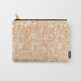 retro circus orange ivory Carry-All Pouch