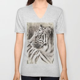 A Tigers Sketch 2 Unisex V-Neck