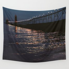 Pier Nights Wall Tapestry
