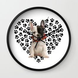 Boston Terrier Puppy Wall Clock