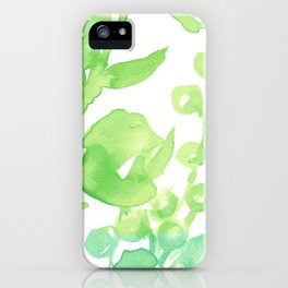 Abstract floral & square #10 iPhone Case