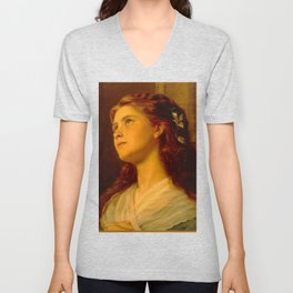 Anderson Sophie-Portrait of a Young Girl Unisex V-Neck