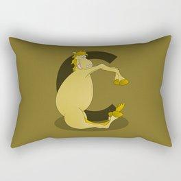 Pony Monogram Letter C Rectangular Pillow