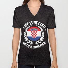 Croatia Croatian Zagreb gift Unisex V-Neck
