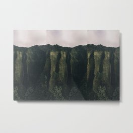green and sky Metal Print