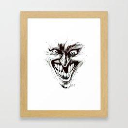 """""""Turn that Smile Upsidedown"""" Framed Art Print"""