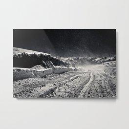 B&W Snow Background Metal Print
