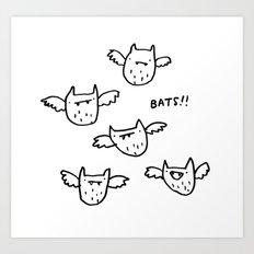 Bats!! Art Print