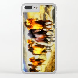 Wild horses Clear iPhone Case