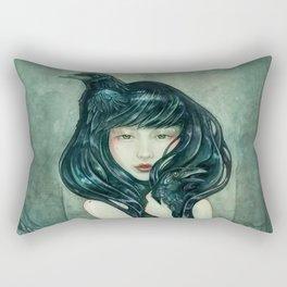Oracle of the sodden raven Rectangular Pillow