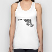 maryland Tank Tops featuring Typographic Maryland by CAPow!