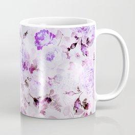 Shabby vintage lavender violet watercolor floral Coffee Mug