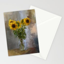 Five Sunflowers Centered Stationery Cards