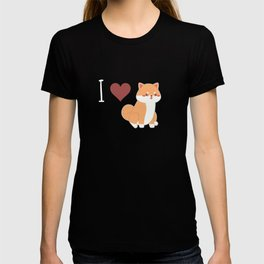 I Love Shiba Inu Shiba Inu Dog Lover Japanese Puppy Gift T-shirt