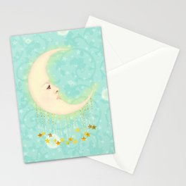 Woman in the Moon Stationery Cards