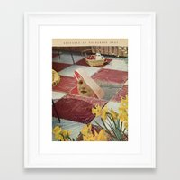 meat Framed Art Prints featuring Meat by Ubik Designs