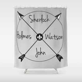 Holmes'Watson Shower Curtain