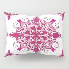 Rosy mandala glam Pillow Sham