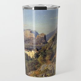 Ferdinand Georg Waldmüller Mountains of Arco at Riva Travel Mug