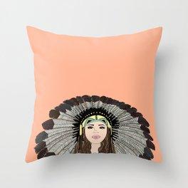 Southwest queen Throw Pillow