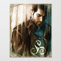 derek hale Canvas Prints featuring Derek Hale * Tyler Hoechlin  by AkiMao
