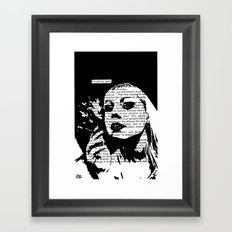 I Could Say More Framed Art Print