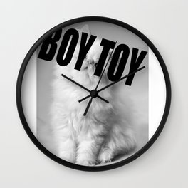 Boy Toy Cat  Wall Clock