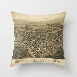 Aerial View of Tyrone, Pennsylvania (1895) Throw Pillow