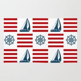 Nautical pattern Rug