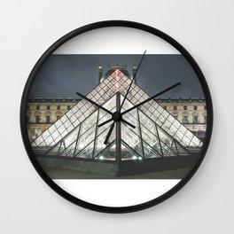 Paris pyramide Louvre 2 Wall Clock